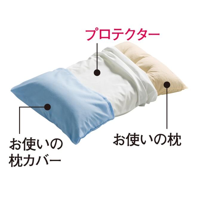 ミクロガード(R)防ダニ用寝具プロテクター 枕用 普通判2枚組 お使いの枕カバーの下にこの1枚で、枕をダニから守ります。