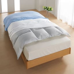 ミクロガード(R)防ダニ用寝具プロテクター 掛け布団用 シングル 上からお使いのカバー、プロテクター、お使いの掛け布団。これ1枚で掛け布団をダニから守ります。