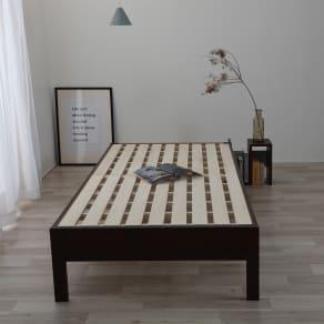 【マット付・セミダブル】通常すのこベッド 写真