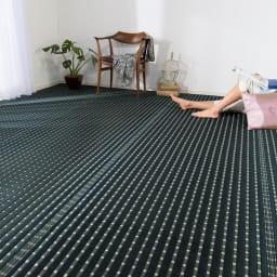 掛川織い草上敷き「MODERN」 1畳~8畳タイプ(イージーオーダー) (ア)ブラック