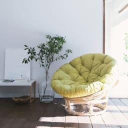 ラタンリビングシリーズ リラックスチェア 心地よい風を感じながらゆったりと癒されるリラックスタイムをご自宅で。