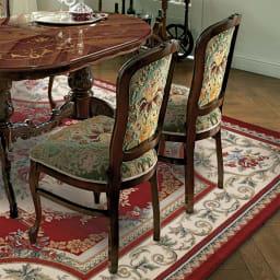 イタリア製 金華山織 ダイニングチェア お得な2脚セット 高級感があり、置いておくだけで絵になる食卓椅子です。※お届けはチェア2脚です。
