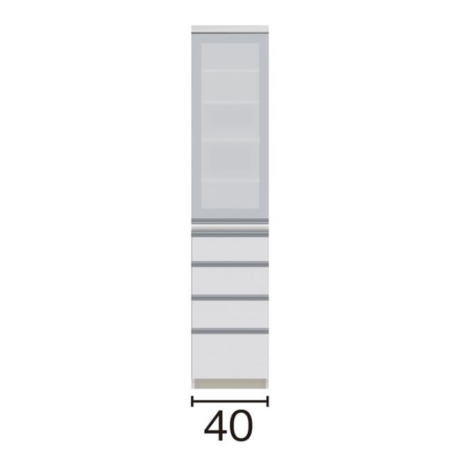 サイズが豊富な高機能シリーズ 食器棚引き出し 幅40奥行45高さ187cm/パモウナ JZ-S400KL JZ-S400KR