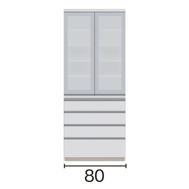 サイズが豊富な高機能シリーズ 食器棚引き出し 幅80奥行50高さ198cm/パモウナ VZ-800K