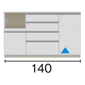 サイズが豊富な高機能シリーズ カウンター家電収納 幅140奥行50高さ84.8cm 写真