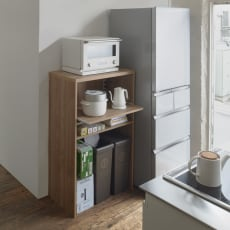 ゴミ箱上が活用できる家電オープンラック 幅74cm