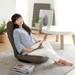特許を取得した腰に優しい回転座椅子 ハイタイプ (イ)ブラウン 腰をしっかりサポートし、リラックスタイムを演出します。