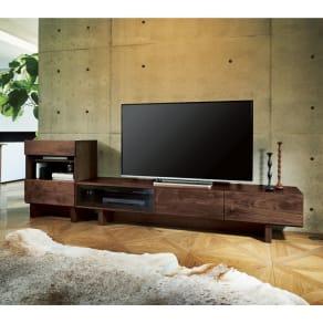 大画面対応ウォルナット天然木テレビ台シリーズ テレビ台・幅200cm 写真