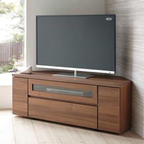 天然木調お掃除がしやすいコーナーテレビ台 幅120cm 写真