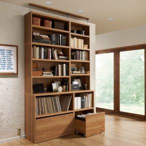 ライブラリーブックシェルフ 書棚 幅60cm 高さ179cm 写真