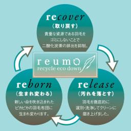 リサイクル羽毛掛け布団〈reumo〉