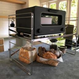 ダブルフレーム ステンレス棚 トースターラック 1段 60cm