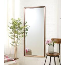 割れない軽量フィルムミラー 額装風 樹脂フレーム 大きな鏡も壁掛けOK!