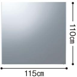 割れない軽量フィルムミラー avex企画ダンス用横長タイプ 115×110cm[太枠フレーム]