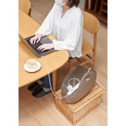 ENOTS/エノッツ インテリアバッグ バスケット 1個 (ウ)ブラウン テレワーク、在宅ワーク用品の収納に。