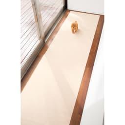 カテキン消臭&はっ水 おくだけ吸着ロングマット(1枚)(幅60cm) (ア)ベージュ(ライトベージュ) 廊下などに。