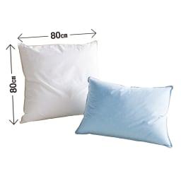 【フォスフレイクス】枕クラシック 枕のみ 左から(キ)ホワイト (ク)パウダーブルー