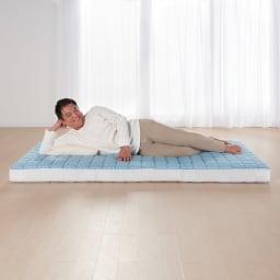 吸湿発熱パッド付き敷布団 東洋紡ブレスエアー(R)NEW デラックスシリーズ 大柄な男性(85kg)が寝ても安定したサポート力