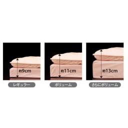 抗菌コンパクト&ワイド ファミリー布団 ベーシック 下層マット単品 幅80cm1枚 下層の厚さは3タイプ。使い方や寝心地など、お好みにあわせて選択できます。上層と下層をあわせれば、それぞれ約9cm、約11cm、約13cmの厚さに。