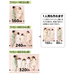 ファミリー布団用 シワになりにくい綿100%マチ付きシーツ(ファミリーサイズ・家族用) コンパクト&ワイド敷布団のサイズに対応しております。
