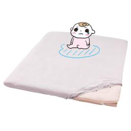 ファミリー布団用 防水シーツ 肌面綿100%・消臭機能付き(ファミリーサイズ・家族用) おねしょしても、慌てず対応できちゃう!パパもママもにっこり。
