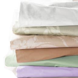 敷布団用ダブル8点(お得な完璧セット(布団+カバー)) カバーはインテリア性の高い6タイプ。花柄タイプと無地タイプをご用意しています。