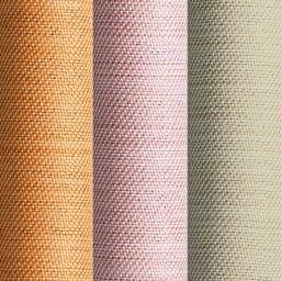 形状記憶加工多サイズ・防炎・1級遮光カーテン 130cm幅(2枚組) 左から(エ)ライトオレンジ(ウ)ピンク(イ)ライトベージュ