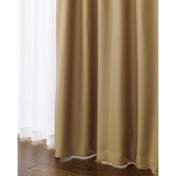 防音・1級遮光・遮熱カーテン(2枚組)幅100cm (イ)ブラウン