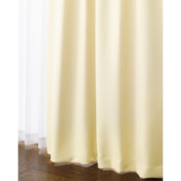 防音・1級遮光・遮熱カーテン(2枚組)幅100cm (ア)アイボリー ※ややベージュに近いアイボリーです。