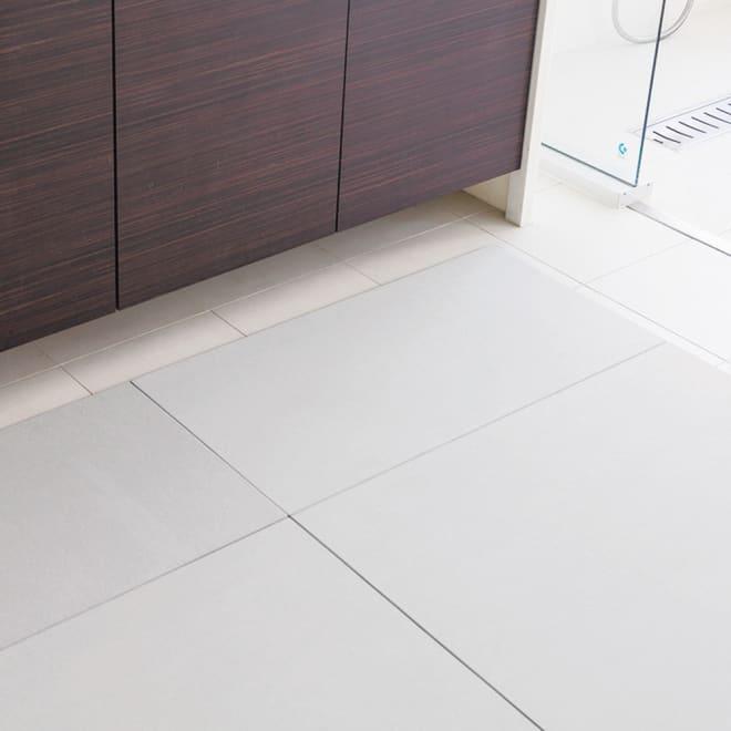 幅55・60cm/奥行50cm (soleau/ソレウ 吸水・速乾・消臭バスマット サイズオーダー) 洗面所のサイズに合わせてすき間なく敷き詰めることも可能です。