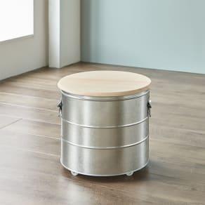 OBAKETSU/オバケツ 檜フタの米びつ 20kg用 キャスター付き 写真