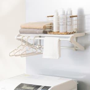 【取付レール付き】壁に付けられる収納シリーズ ランドリーハンガー 写真