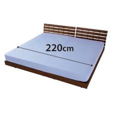 ファミリー布団用 スーパーソフト加工 シワになりにくい綿100%ベッドシーツ(ファミリーサイズ・家族用)