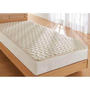 西川の洗える制菌わたベッドパッド シングル 写真