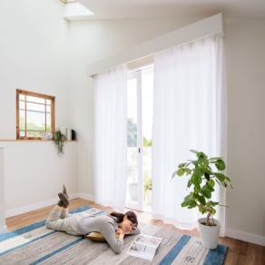 幅100×丈108cm(ウェーブロン(R)使用 UVカットレースカーテン 2枚組) 写真