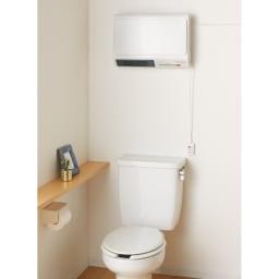 人感センサー対応 脱衣所セラミックヒーター トイレでの使用もおすすめです。