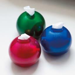 ペーパーPot(ポット) ティッシュケース 色が選べる2個組 全31色 右(ヒ)ラメクリアブルー ※他2色は販売しておりません。