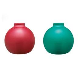 ペーパーPot(ポット) ティッシュケース 色が選べる2個組 全31色 メタリック仕上げタイプ 左から(ホ)メタリックピンク、(マ)メタリックグリーン