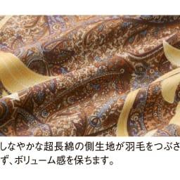 最高位ラベル取得ポーランド産マザーグースプレミアム羽毛掛け布団 立体2層羽毛布団 側生地は国内染色のなめらかな超長綿