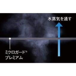 ミクロガード(R)カバーリングシリーズ プレミアム ピローケース 普通判(1枚) 透湿性アップでサラッと快適 すき間のない高密度生地でも、湿気は外へスムーズに放出。布団の中のムレやベタつきを防ぎます。