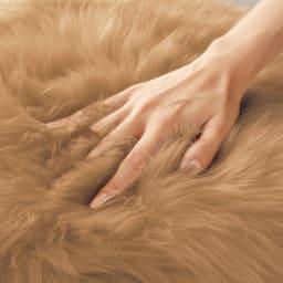 ムートン長毛クッションシリーズ シートクッション 四角形 約40×40cm 同色2枚組 毛足はたっぷり約60~80mm。