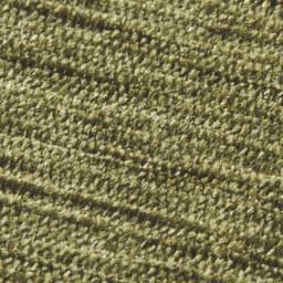 シェニールフラットラグ 掘りごたつラグ(クロス型) [生地アップ] (エ)グリーン