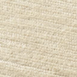 シェニールフラットラグ 掘りごたつラグ(クロス型) [生地アップ] (オ)アイボリー