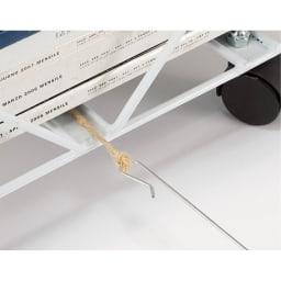 コンパクト新聞ストッカー あとから簡単に結べる紐通し棒付き。