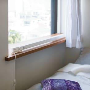 結露と冷気を抑制!「窓際ヒーター」幅90~120cm伸縮式 写真