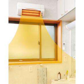 脱衣所・トイレ・小部屋用 涼風暖房機(グラファイトヒーター付き)お客様取付タイプ 写真