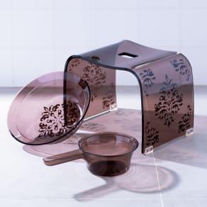 バスチェアS&洗面器&手桶 (アカンサスバスシリーズ バスチェア&洗面器&手桶) 写真