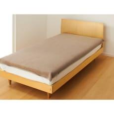 洗える 無染色カシミヤ毛布(毛羽部) ブラウンカシミヤ敷き毛布