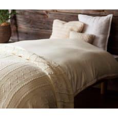 羽毛布団の軽さとふくらみを引き立てる やわらか超長綿の掛けカバー