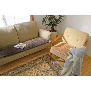 約48×48cm(同色2枚)(吸湿発熱素材 ルネス(TM)CU使用座面シート) 写真